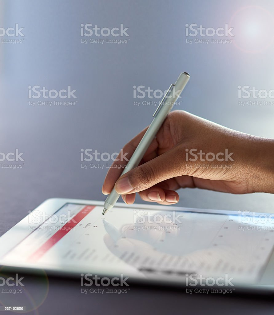 Business made easy with less paperwork stock photo