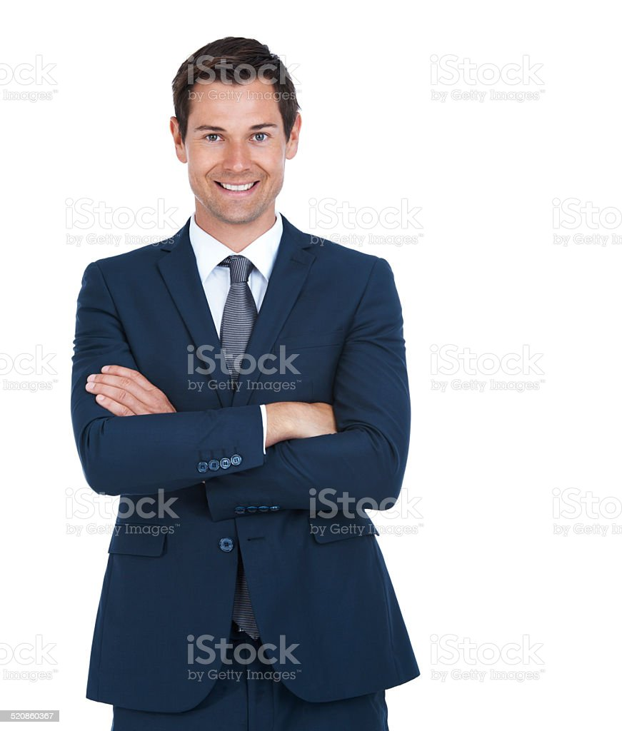 Business makes me smile stock photo