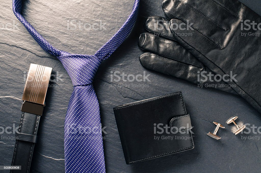 Business man accessories stock photo