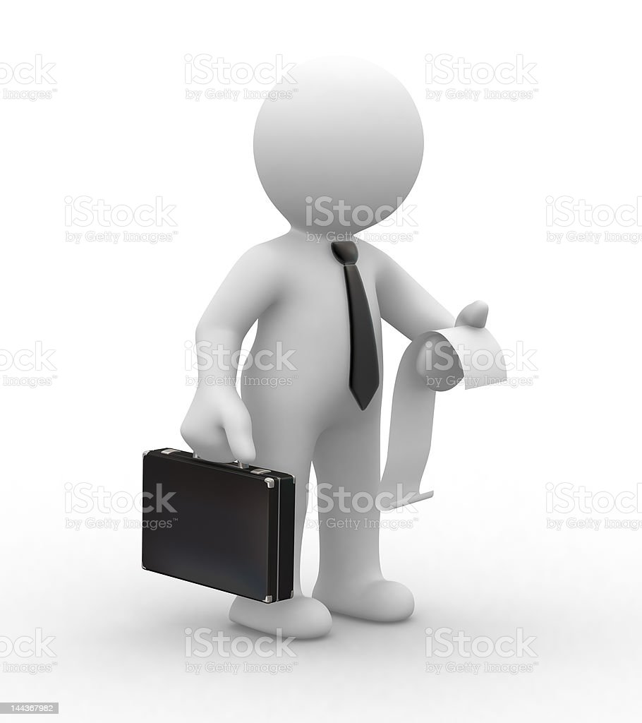 business man and invoice royalty-free stock photo