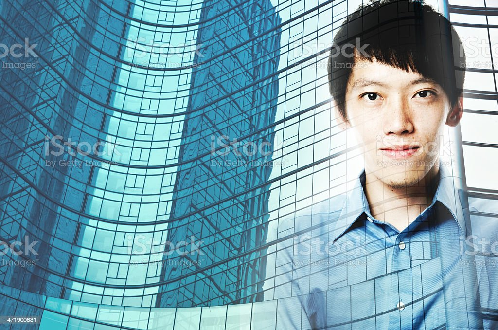 business man and modern building concept royalty-free stock photo