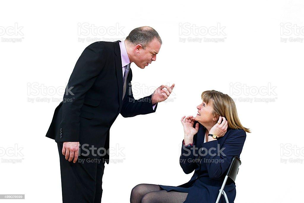 Homme d'affaires et femme Se disputer photo libre de droits
