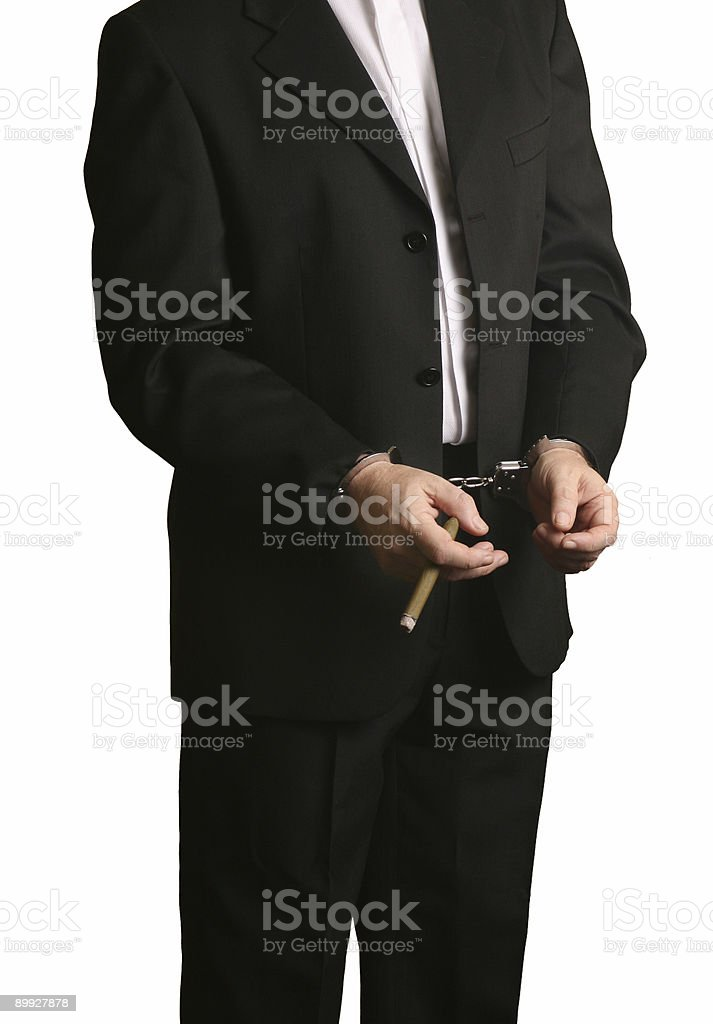 Business man arrested royalty-free stock photo