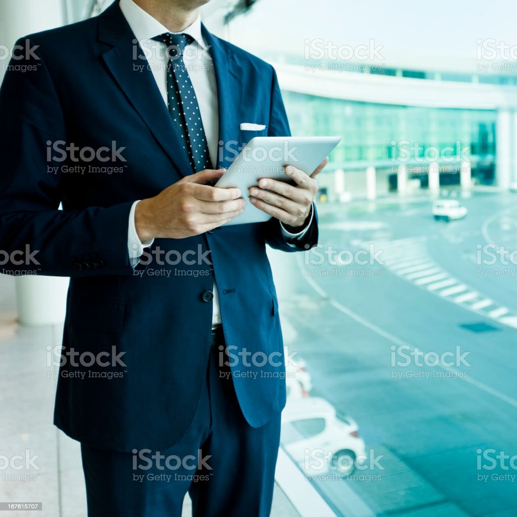 Business man at airport royalty-free stock photo