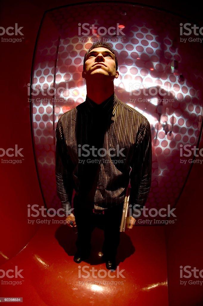 Business Man - Beam me up stock photo