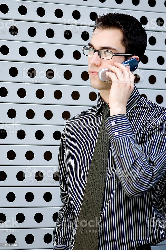 Business Man - Cellphone 2 royalty-free stock photo