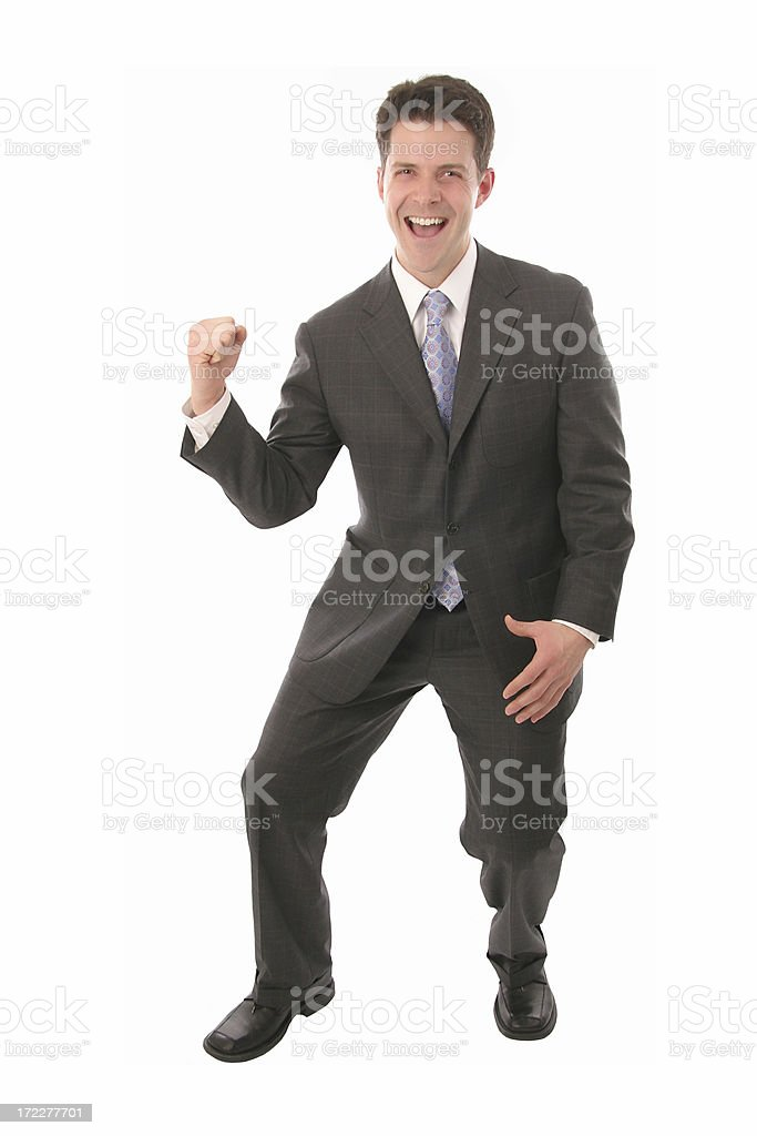 Business Man cheer stock photo