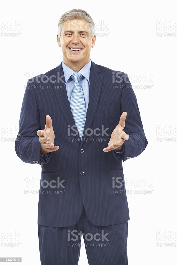 Business man clapping royalty-free stock photo