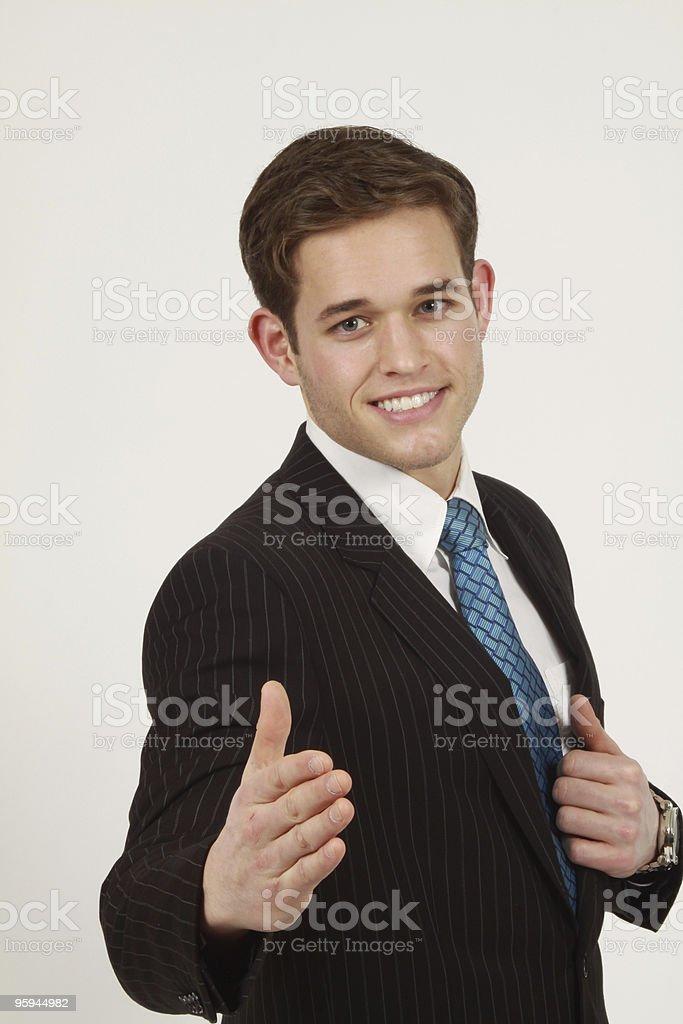 Homme d'affaires de conclure une affaire photo libre de droits