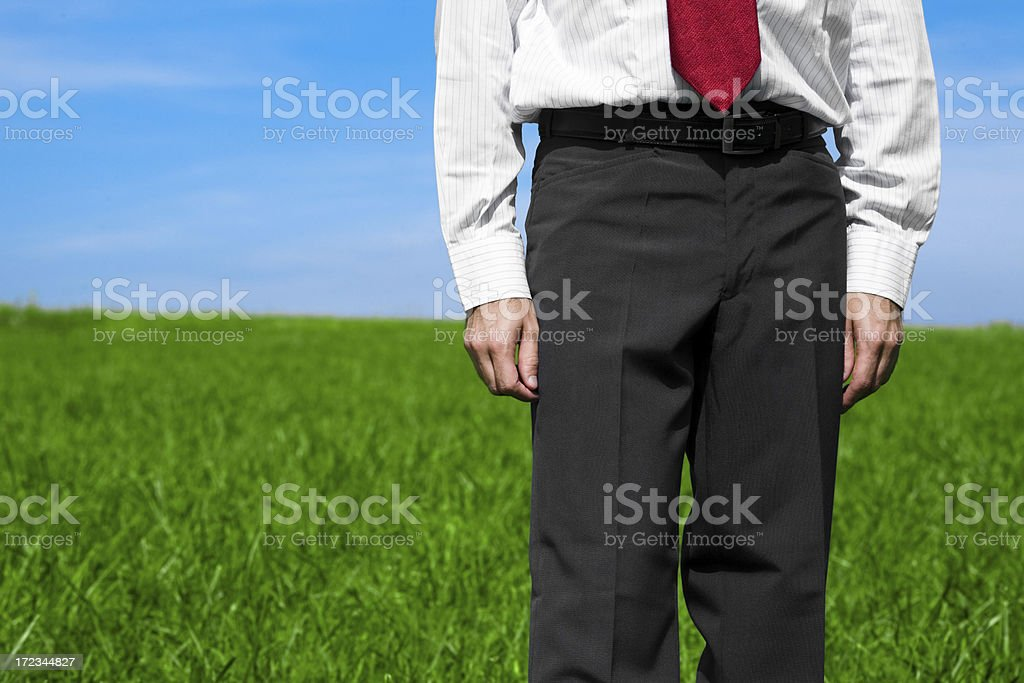 business man detail in the field royalty-free stock photo
