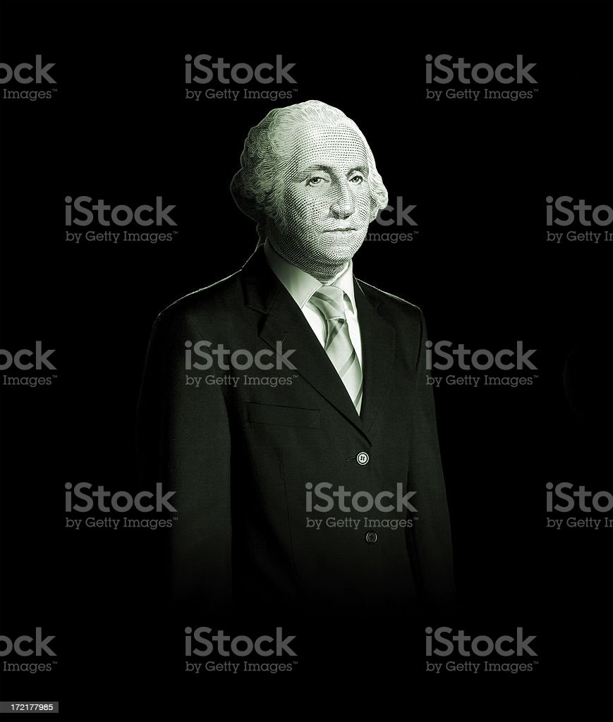 Business man dolar stock photo