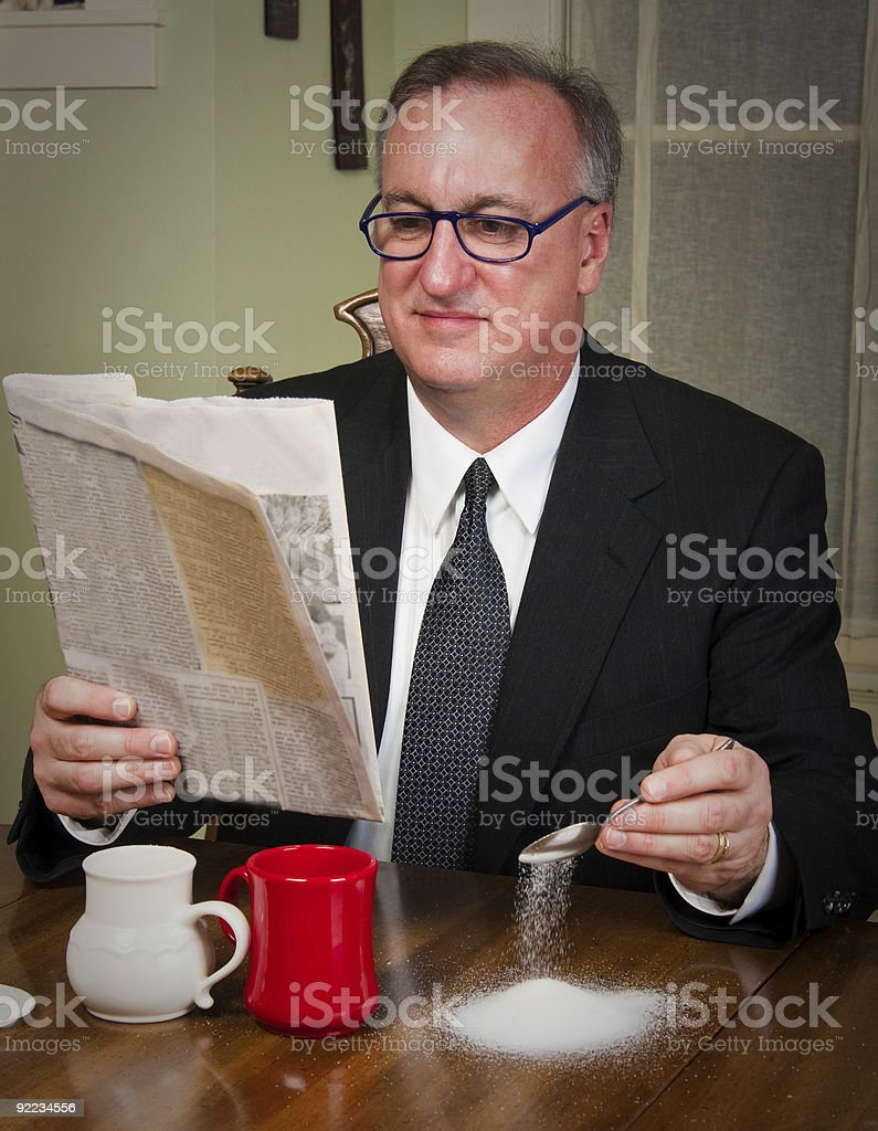 Business Man Drinking Coffee royalty-free stock photo