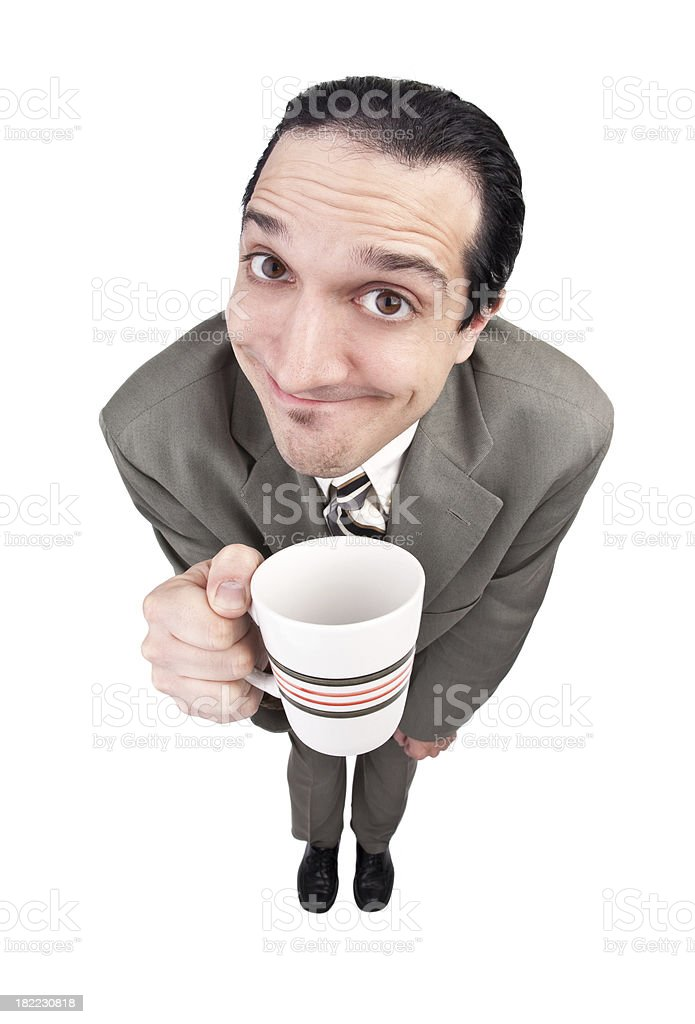 Business Man Enjoying A cup Of Coffee royalty-free stock photo