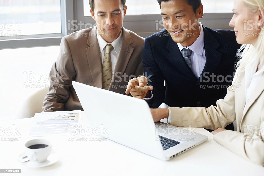 Business man explaining project to executives royalty-free stock photo