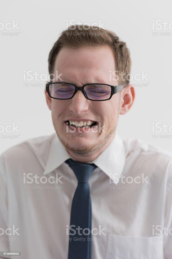 Business man failure stock photo