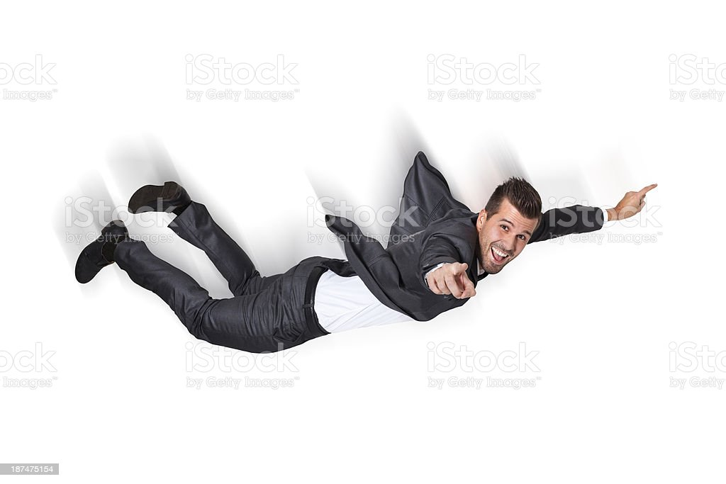 Business Man Falling stock photo