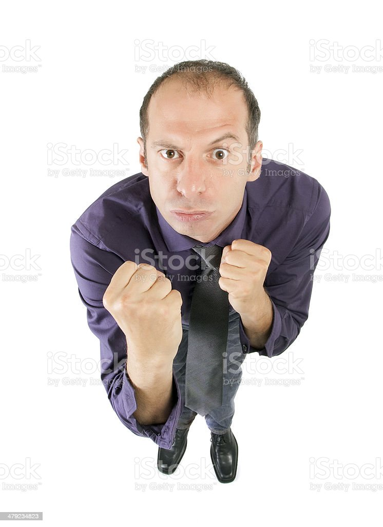 business man fight stock photo