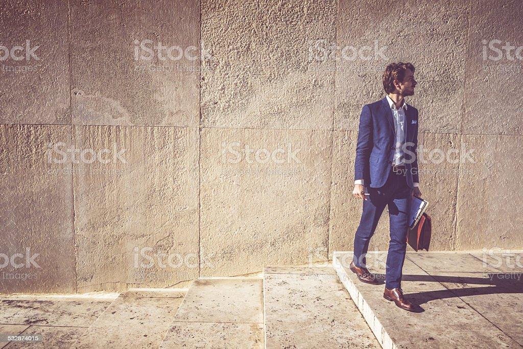 Business man full portrait stock photo