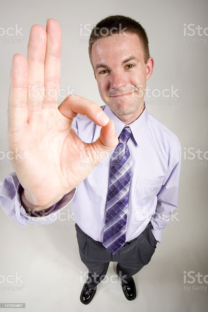 Business Man Gestures 'OK' stock photo
