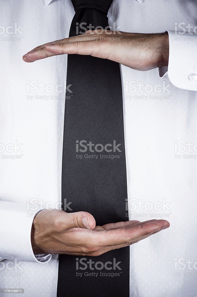 business man gesturing royalty-free stock photo