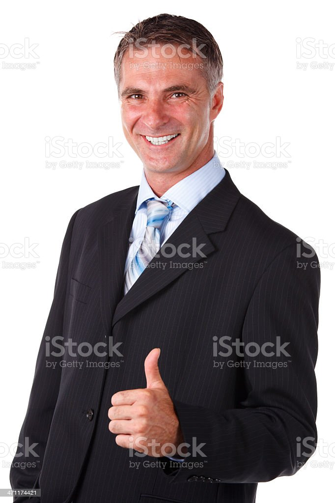Business Man Gives a Thumbs Up royalty-free stock photo