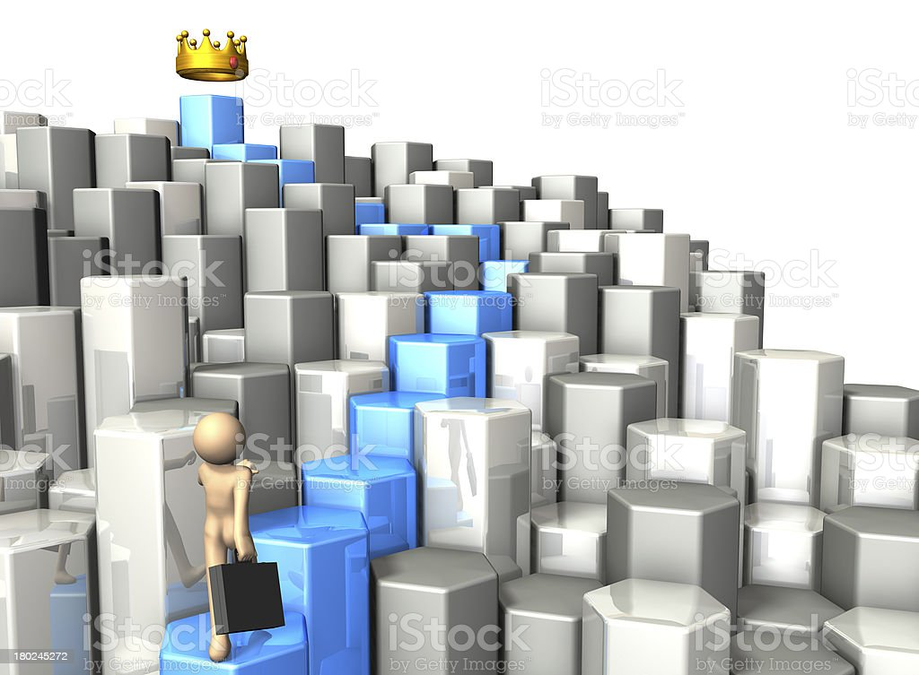 Business man go way toward the goal. royalty-free stock photo
