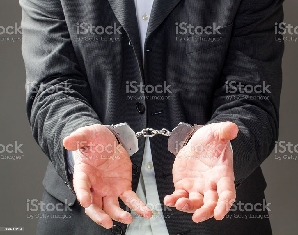 business man going to prison royalty-free stock photo