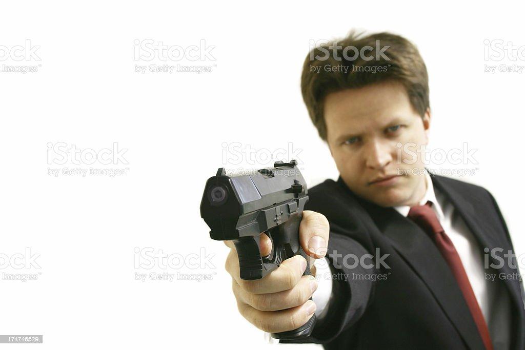 Business man - Gun royalty-free stock photo
