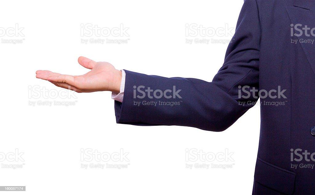 Uomo d'affari mano isolato foto stock royalty-free