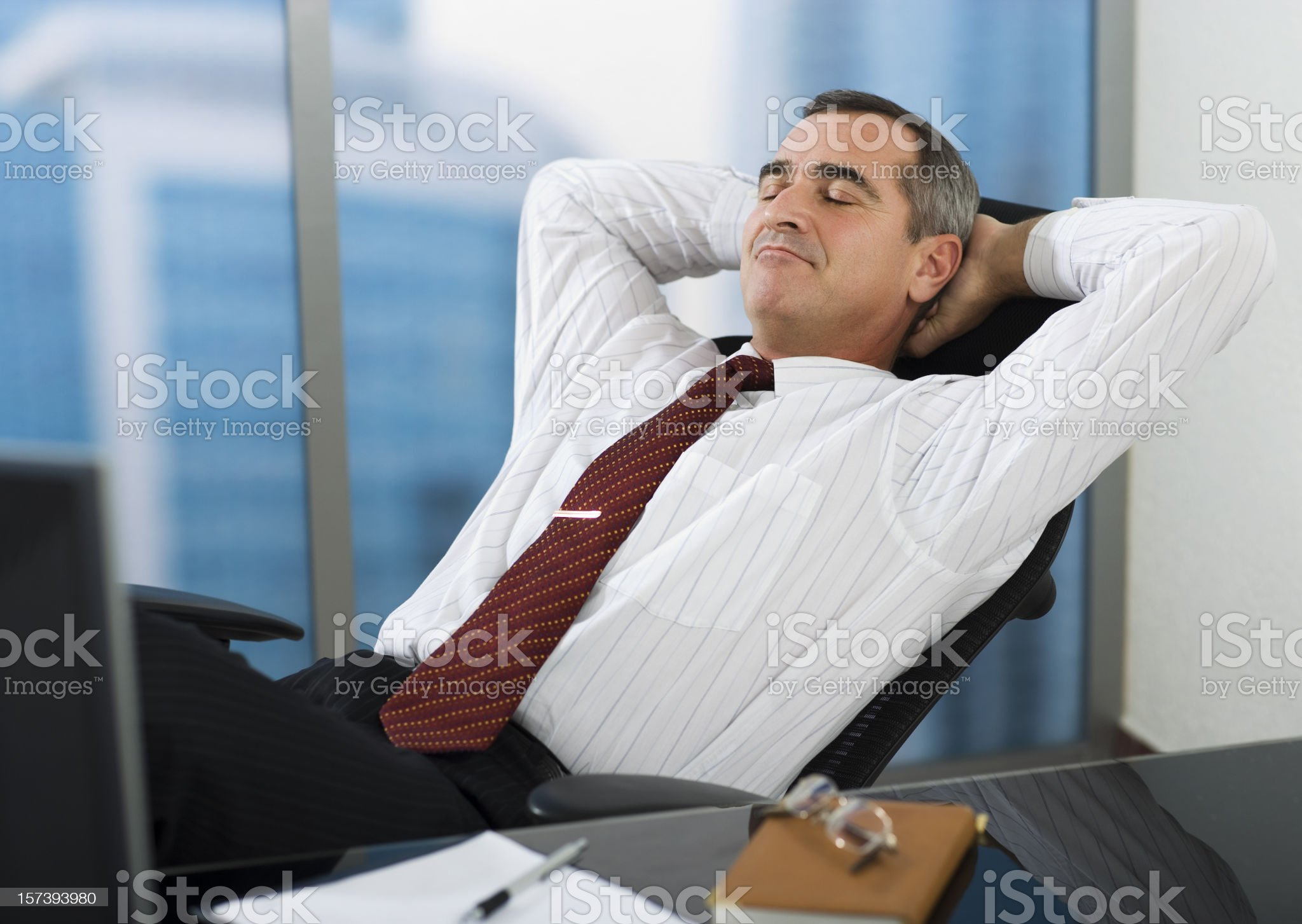 Business man having rest royalty-free stock photo