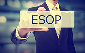 Business man holding ESOP