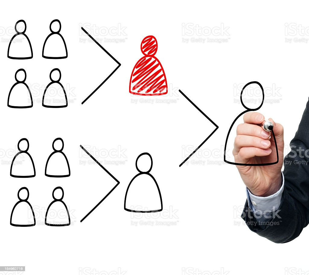 Business man illustrating a team leaders key role royalty-free stock photo