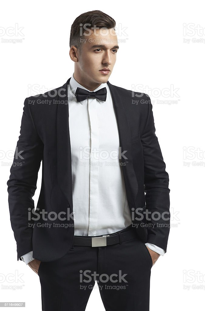 business man in a suit stock photo