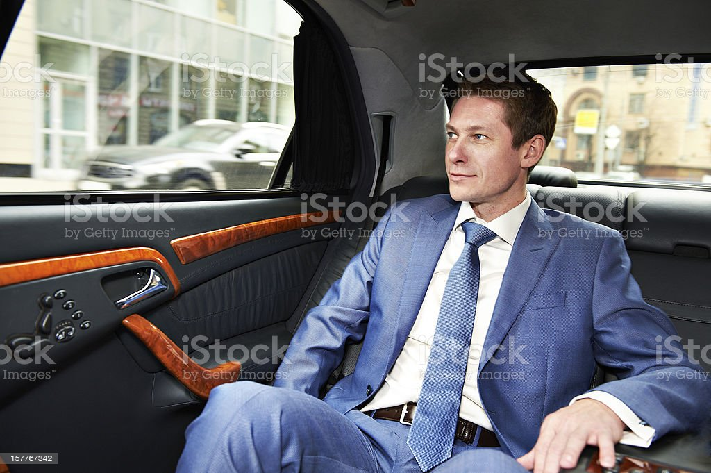 Business man in car stock photo