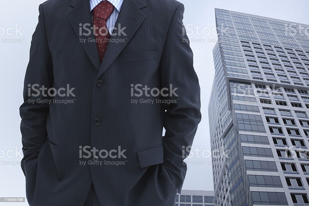 Business Man In City stock photo