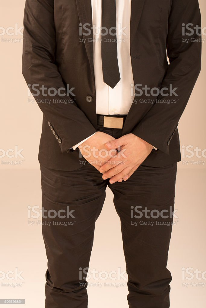 Business man in dark suit stock photo