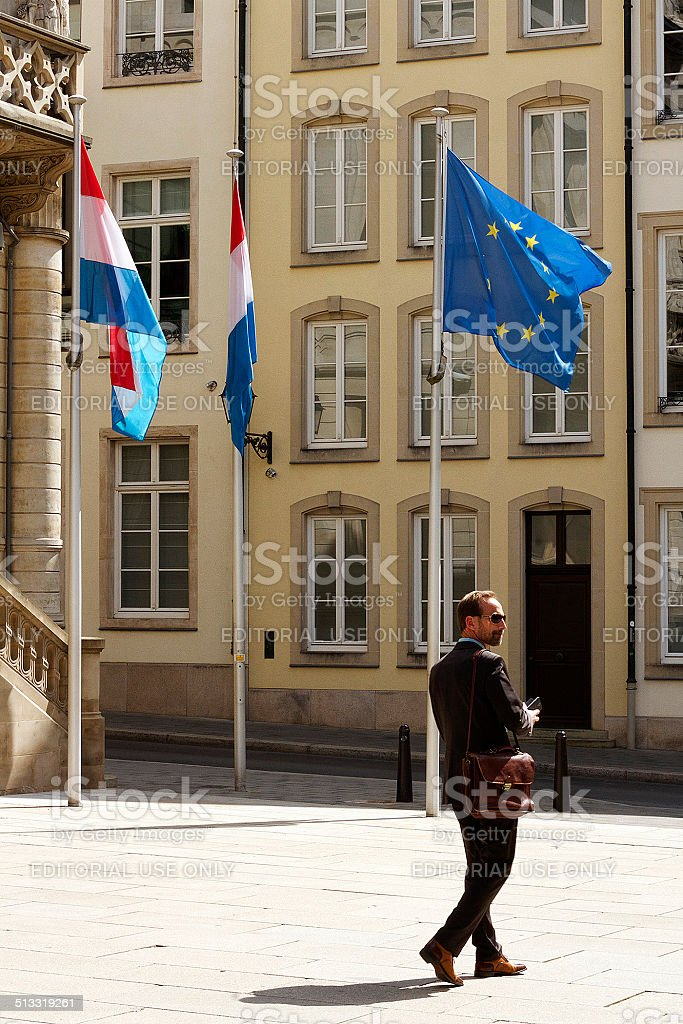 Uomo d'affari in Lussemburgo foto stock royalty-free