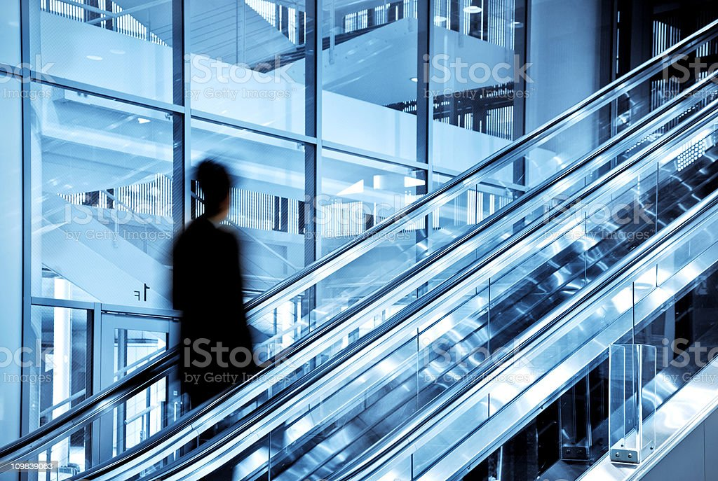 Business man in modern architecture royalty-free stock photo