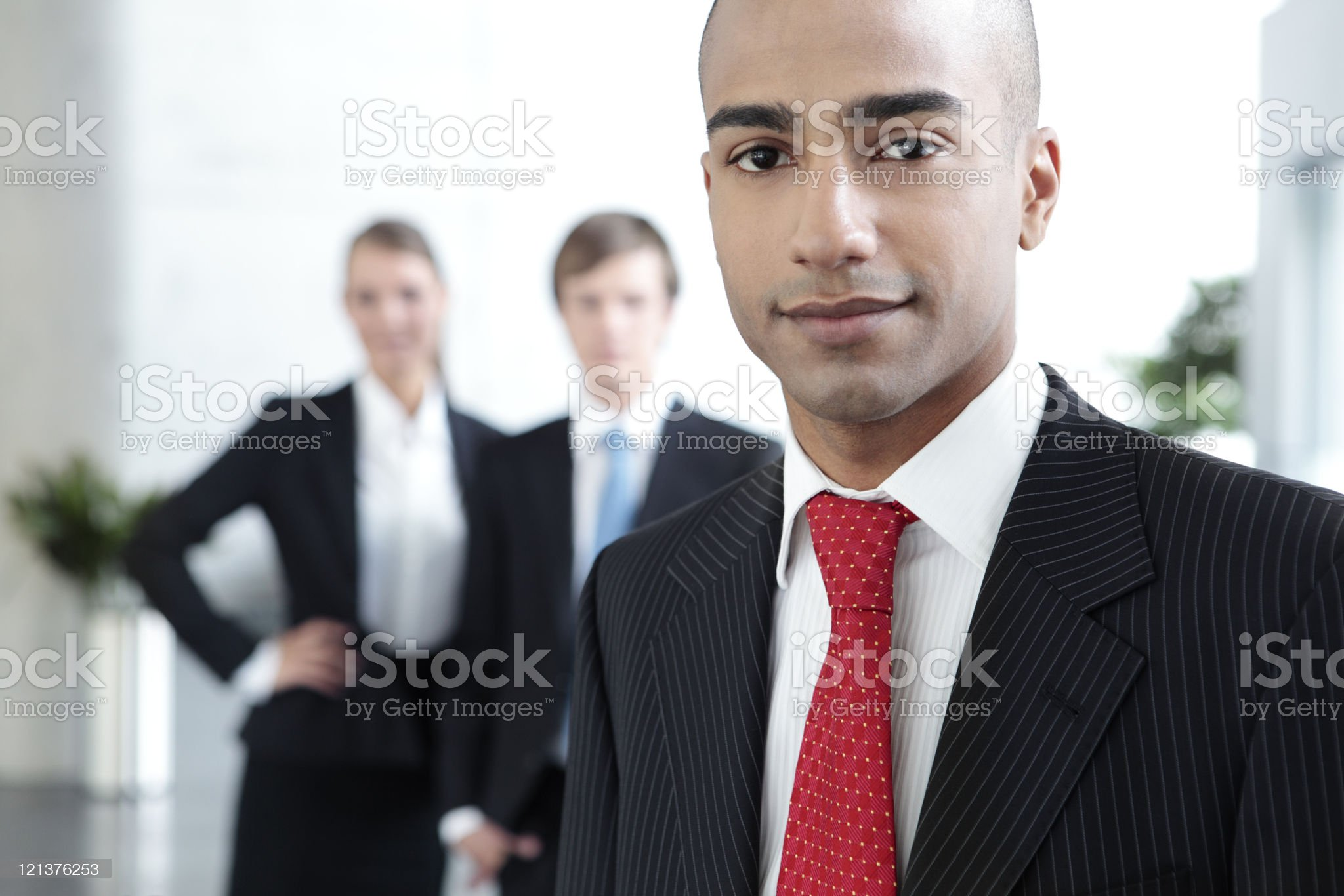 Business Man in Office Building royalty-free stock photo