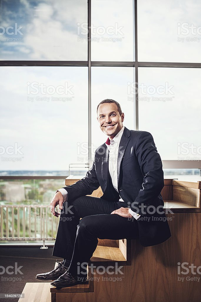 Business man in office stock photo