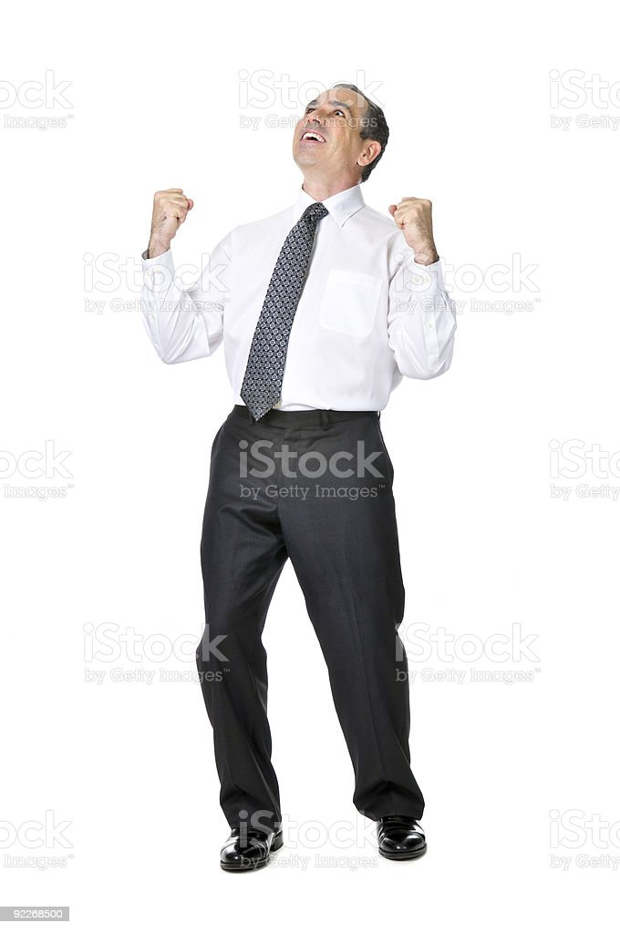 Business man in suit royalty-free stock photo