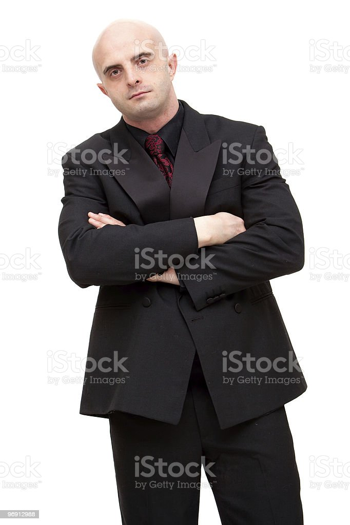 Business man in suit stock photo