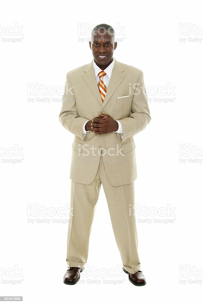 Business Man in Tan Suit royalty-free stock photo
