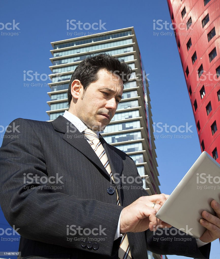 Business man in the financial district royalty-free stock photo