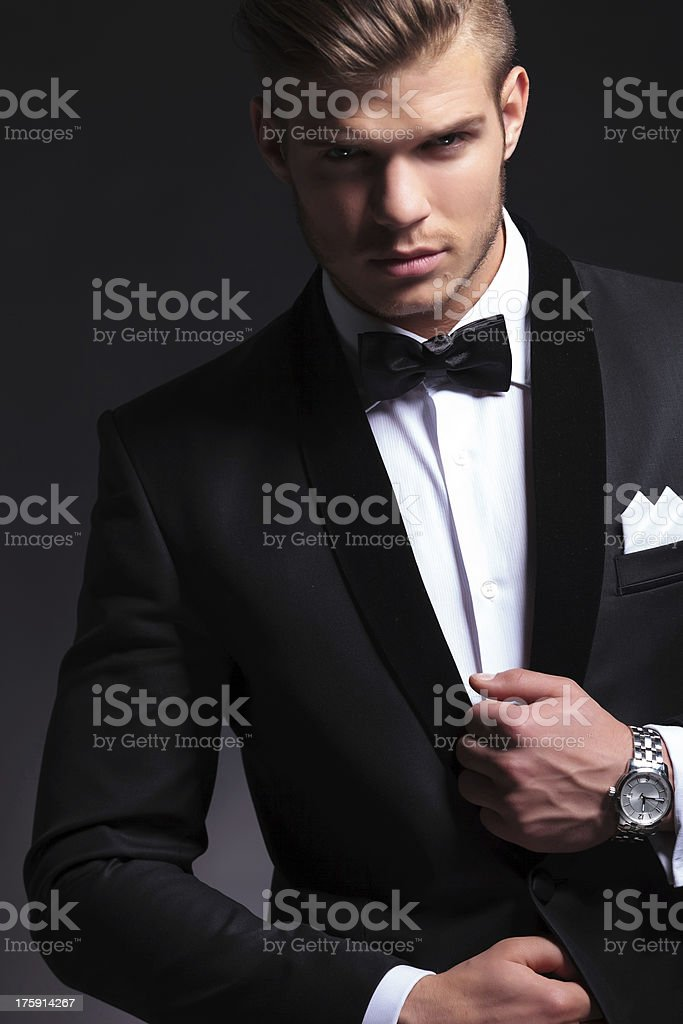 business man in tuxedo cutout picture stock photo