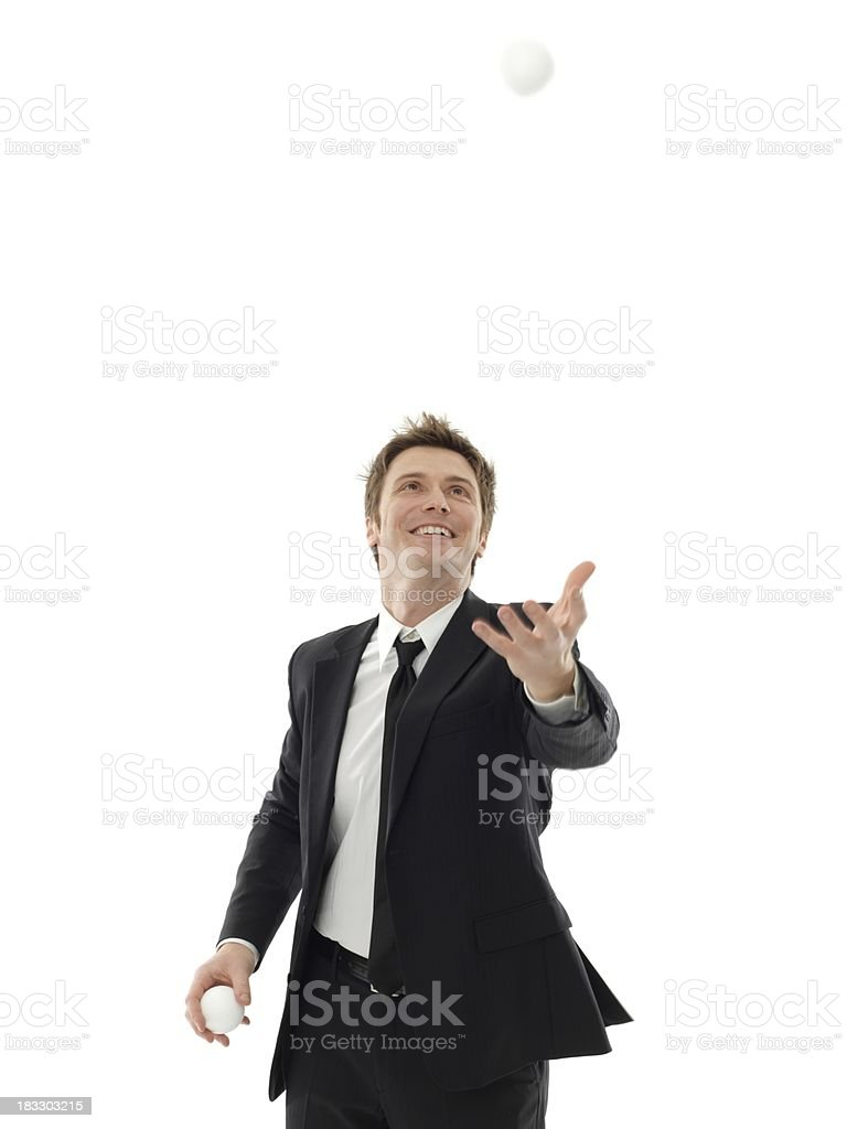 business man is the juggler royalty-free stock photo