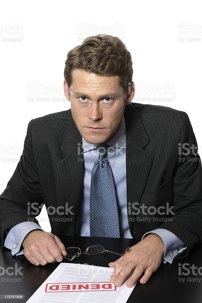 Business Man is Upset royalty-free stock photo