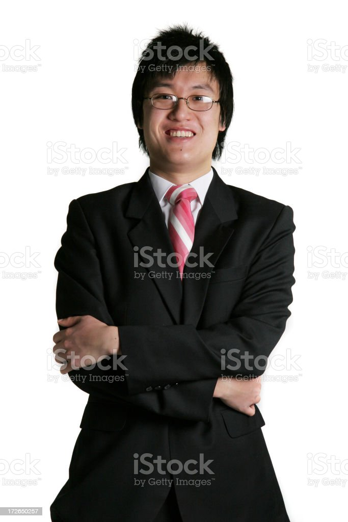 Business man isolated royalty-free stock photo