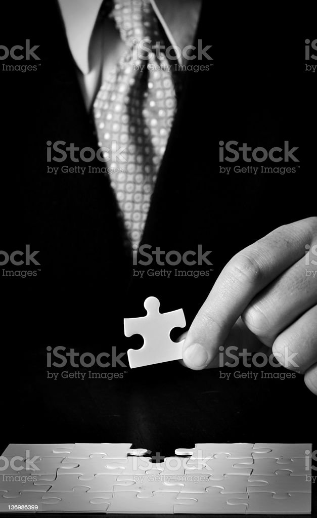 Business Man Jigsaw Puzzle royalty-free stock photo