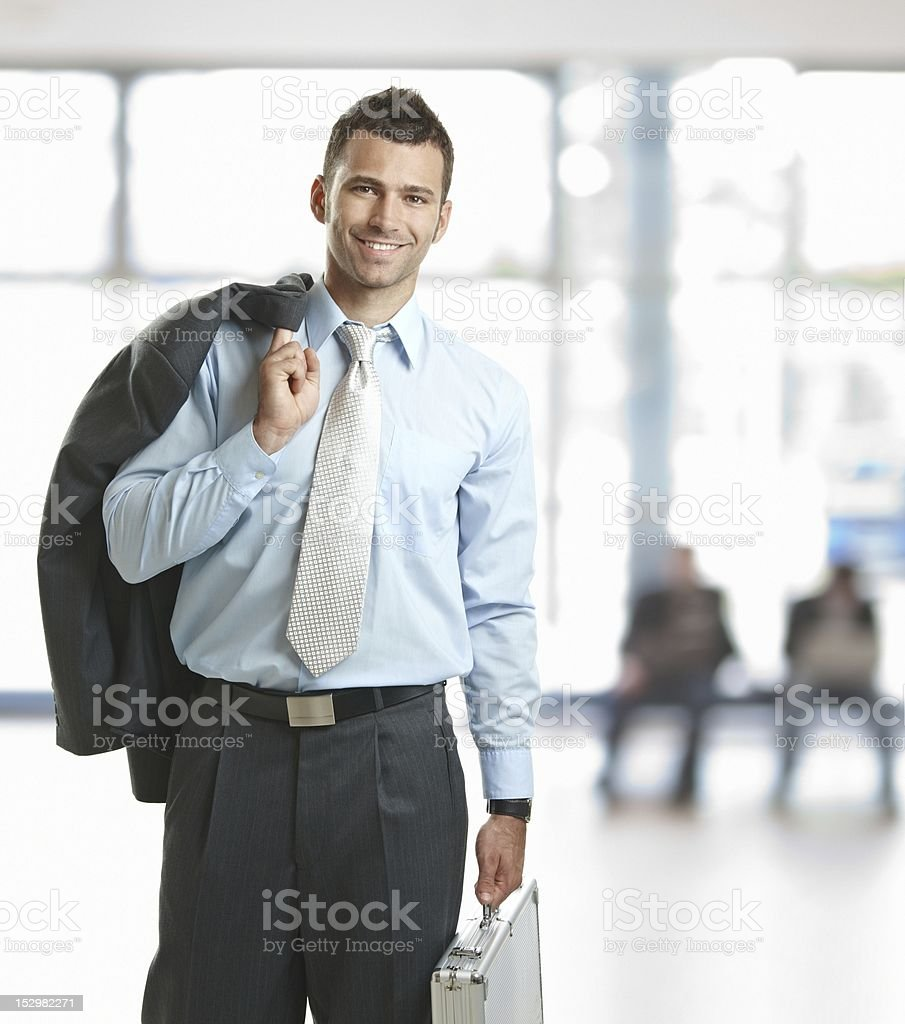 Business man leaving his office royalty-free stock photo